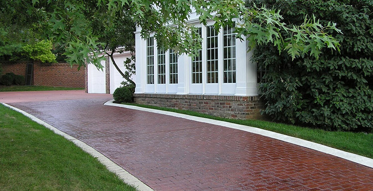 Decorative Drive Way : Css emulsion™ concentrated concrete sealer