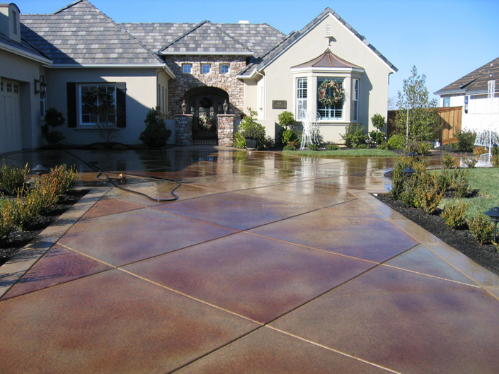 Concrete Driveways Stamped Concrete Textured Concrete Sealer