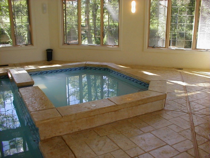 Stamped Concrete Interior Floors : Alternative to brick stone pavers stamped concrete