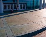 exterior stamped concrete