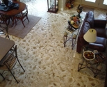interior decorative concrete living-room floor
