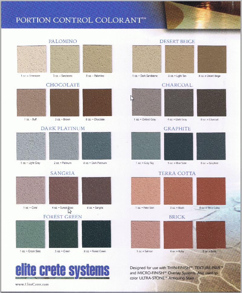 PCC Colour Chart