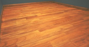 wood concrete flooring