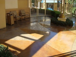 Exterior decorative concrete finish - stained