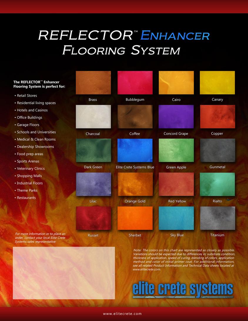 Elite Crete Systems Colour Charts