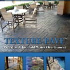 TEXTURE-PAVE™ Pre Mixed Thin Stamped Concrete Overlay